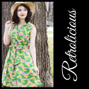 Retrolicious ModCloth GO BANANAS Dress Size XL